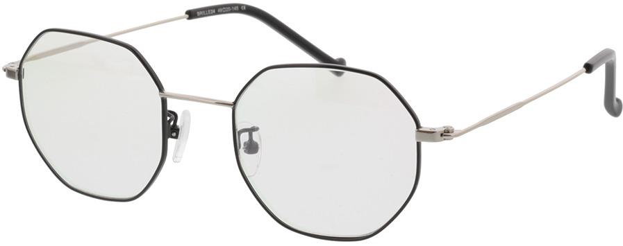 Picture of glasses model Lennox-schwarz/silber in angle 330