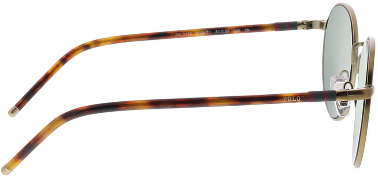 Picture of glasses model Polo Ralph Lauren PH3133 932471 51-20 in angle 90