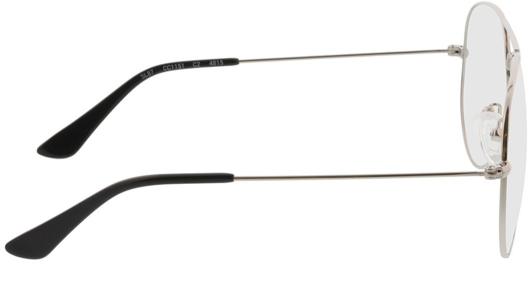 Picture of glasses model Manhattan-silber in angle 90