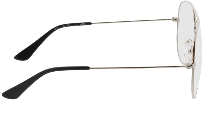 Picture of glasses model Manhattan silver in angle 90