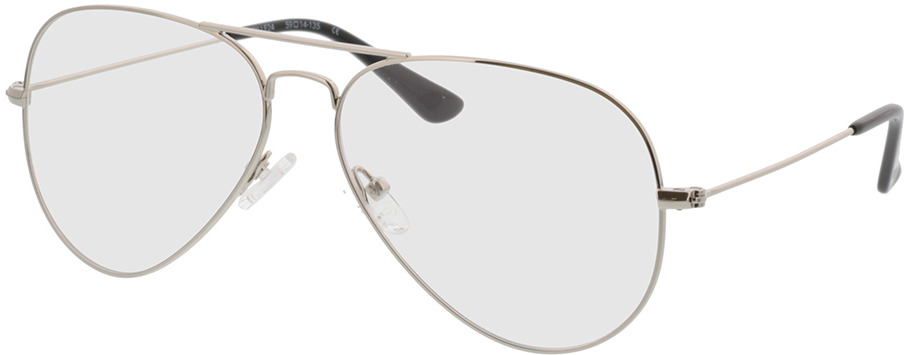 Picture of glasses model Manhattan silver in angle 330