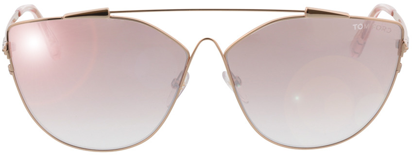 Picture of glasses model Tom Ford Jacquelyn FT0563 33Z in angle 0