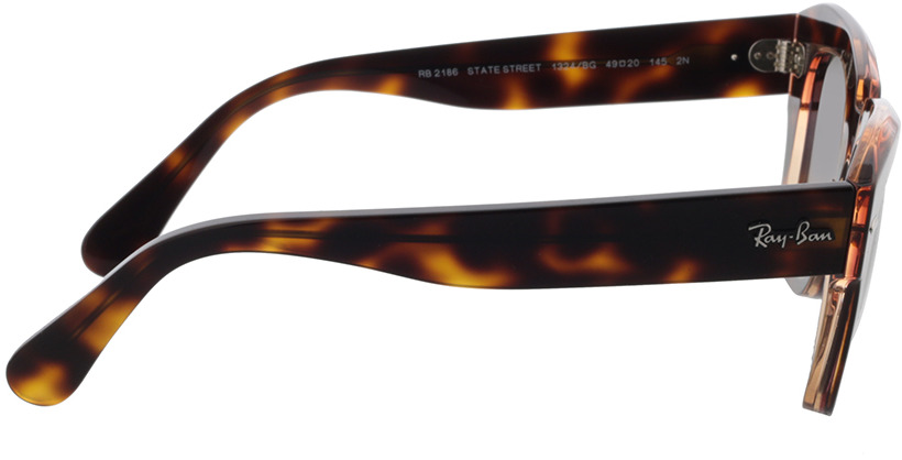 Picture of glasses model Ray-Ban RB2186 1324BG 49-20 in angle 90