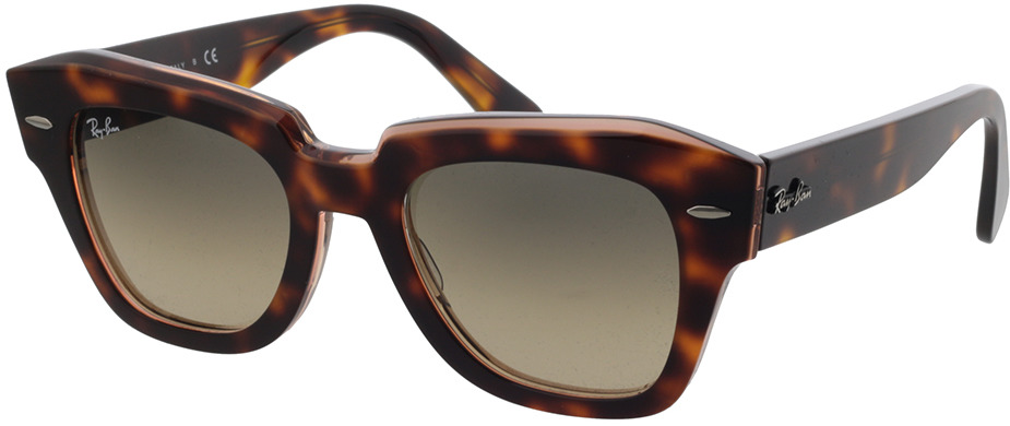 Picture of glasses model Ray-Ban RB2186 1324BG 49-20 in angle 330