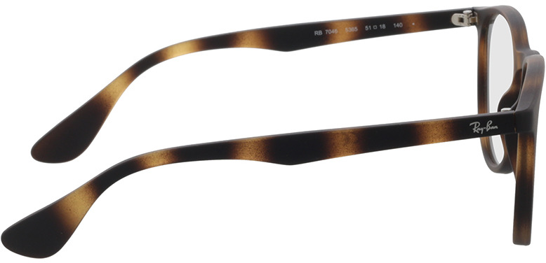Picture of glasses model Ray-Ban RX7046 5365 51-18 in angle 90