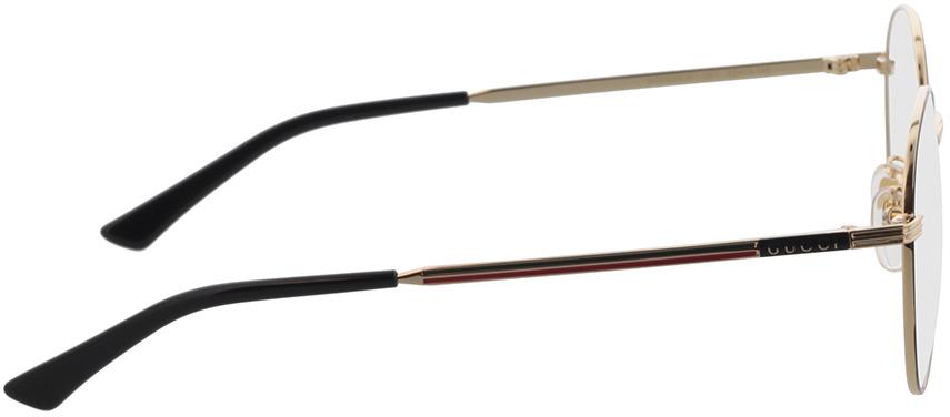 Picture of glasses model Gucci GG0839OK-001 52-19 in angle 90