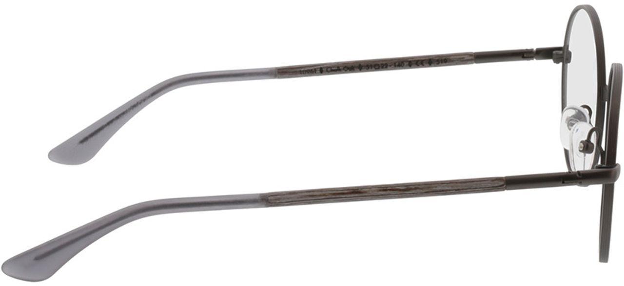 Picture of glasses model Wood Fellas Optical Nassenfels chalk oak/gunmetal 50-22 in angle 90