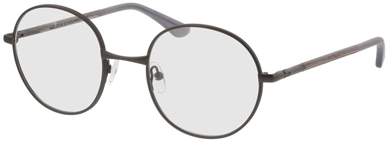 Picture of glasses model Wood Fellas Optical Nassenfels chalk oak/gunmetal 50-22 in angle 330