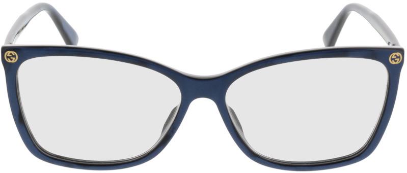 Picture of glasses model Gucci GG0025O 005 56 14 in angle 0