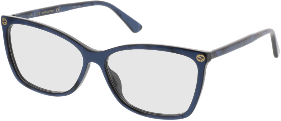 Picture of glasses model Gucci GG0025O 005 56 14 in angle 330