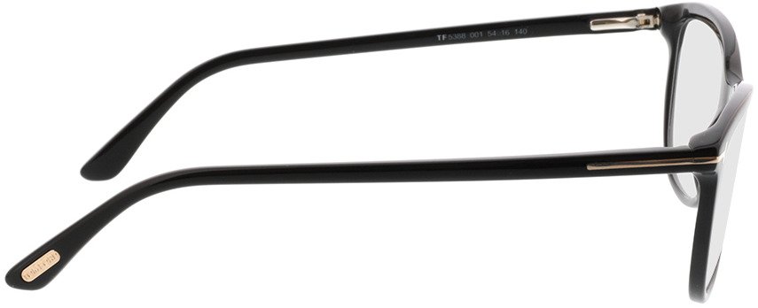 Picture of glasses model Tom Ford FT5388 001 in angle 90