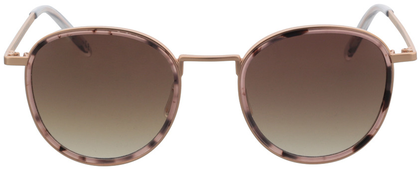 Picture of glasses model TAKE A SHOT Ada: Pebble - Rose - Brown Gradient Metall + Bio Acetate in angle 0