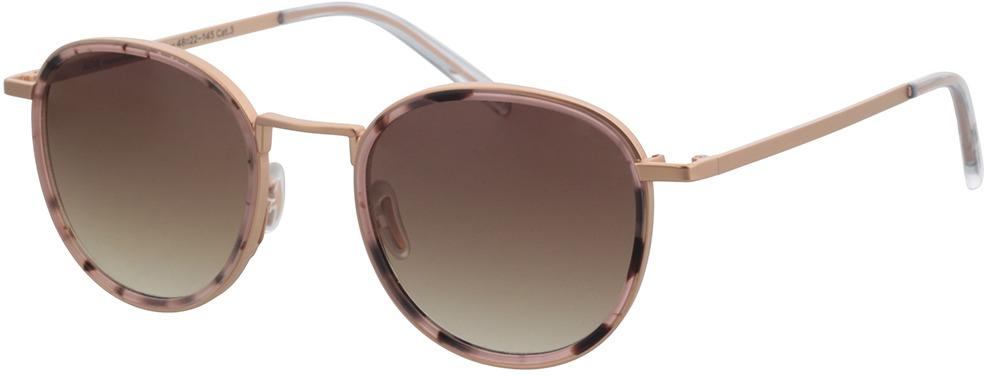 Picture of glasses model TAKE A SHOT Ada: Pebble - Rose - Brown Gradient Metall + Bio Acetate in angle 330