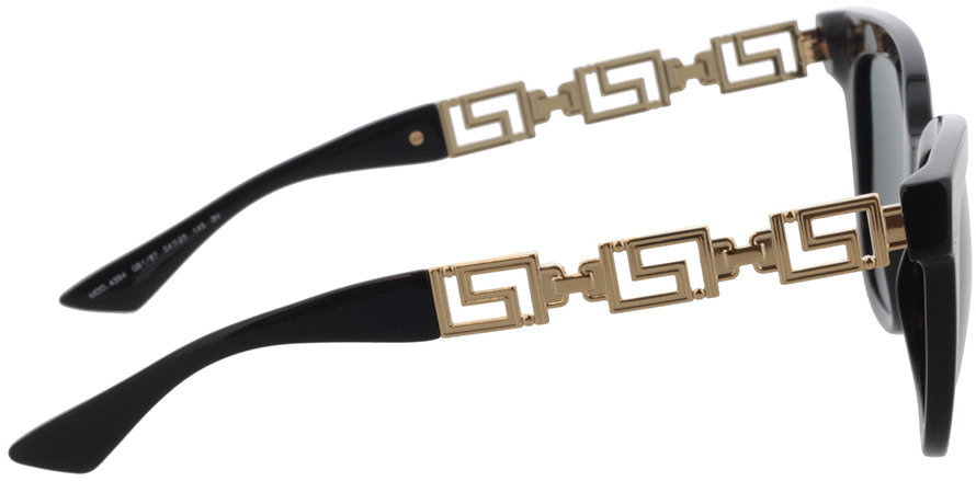 Picture of glasses model Versace VE4394 GB1/87 54-20 in angle 90