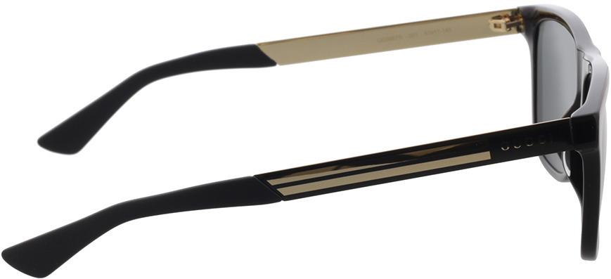 Picture of glasses model Gucci GG0687S-001 57-17 in angle 90