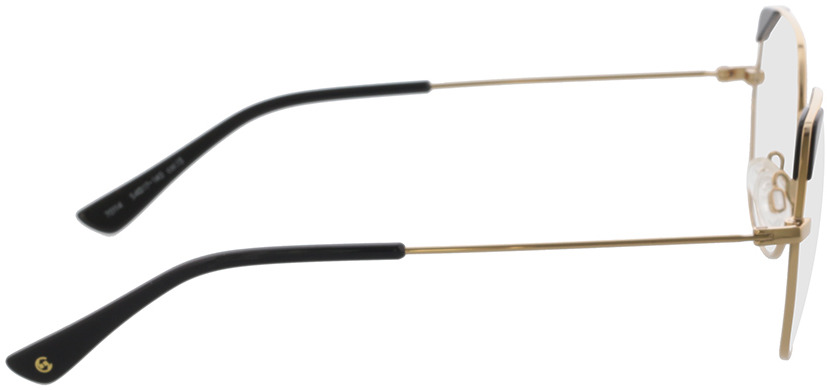 Picture of glasses model Comma, 70114 13 gold/black 54-17 in angle 90