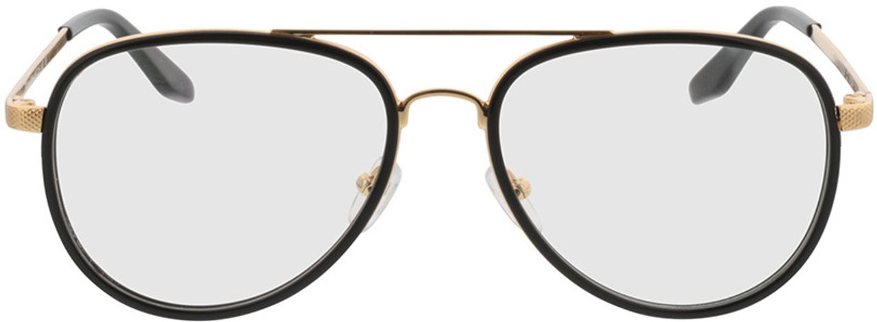 Picture of glasses model Long Beach-schwarz/gold in angle 0