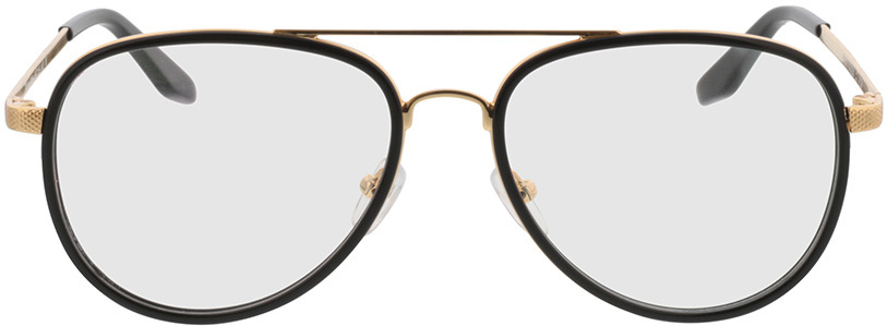Picture of glasses model Long Beach zwart/Goud in angle 0