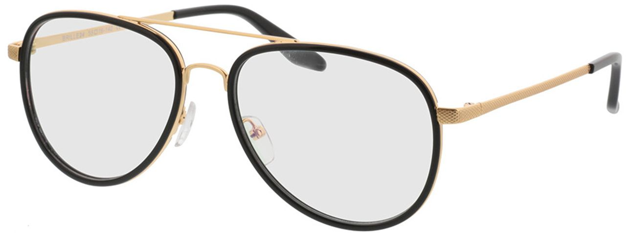 Picture of glasses model Long Beach-schwarz/gold in angle 330