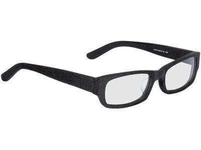 Brille Woody-schwarz Holzoptik