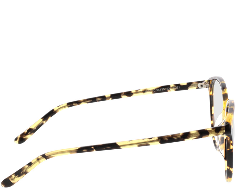 Picture of glasses model New York yellow/brown/mottled in angle 90