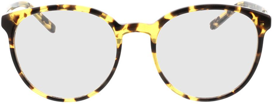 Picture of glasses model New York-gelb-braun-meliert in angle 0
