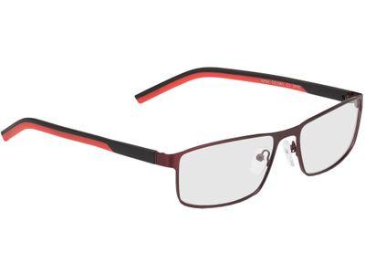Brille Lissabon-rot/schwarz