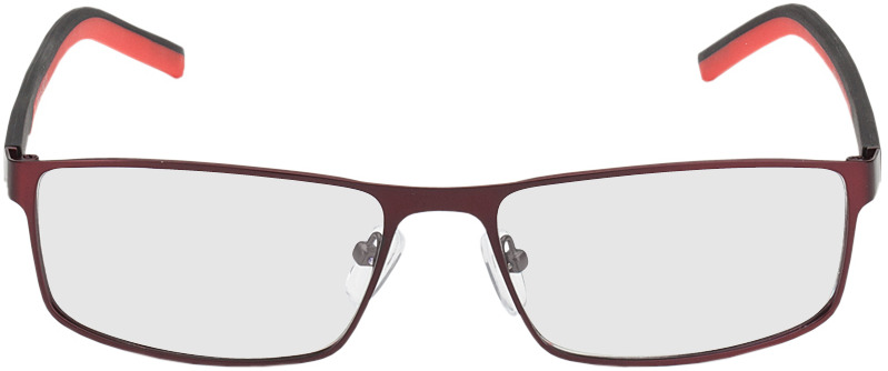 Picture of glasses model Lissabon rood/zwart in angle 0