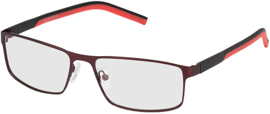 Picture of glasses model Lissabon rood/zwart in angle 330