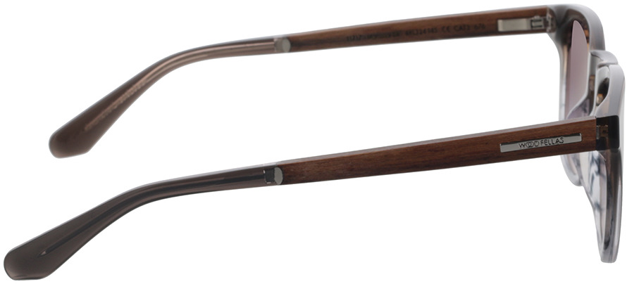 Picture of glasses model Wood Fellas Sunglasses Mindset macassar/black 48-24 in angle 90