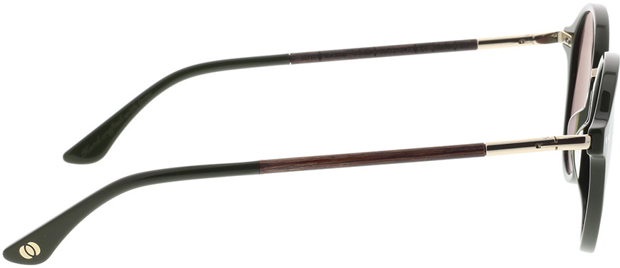 Picture of glasses model Wood Fellas Sunglasses Grünwald macassar/olive 50-21 in angle 90