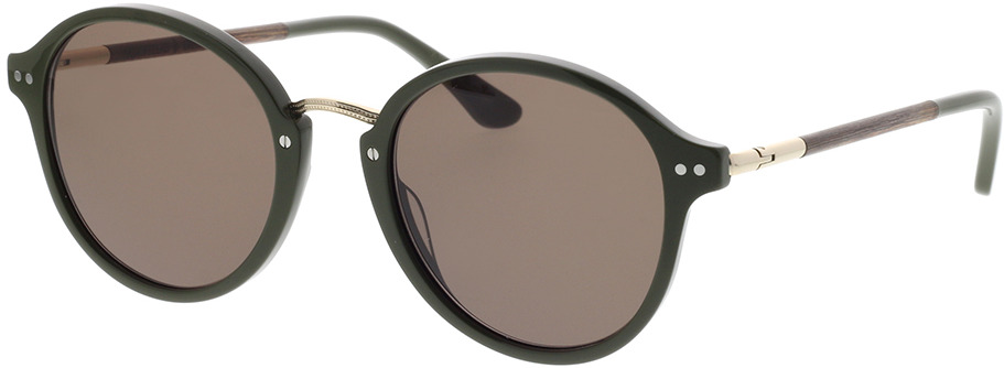 Picture of glasses model Wood Fellas Sunglasses Grünwald macassar/olive 50-21 in angle 330