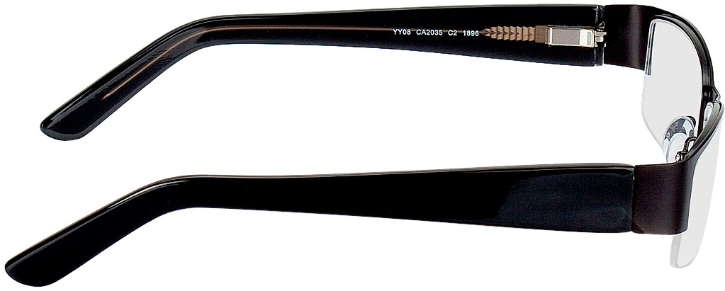 Picture of glasses model Billund-preto in angle 90