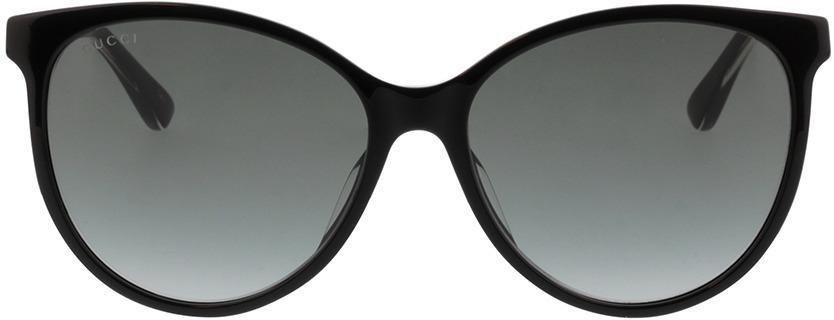 Picture of glasses model Gucci GG0377SK-001 57-16  in angle 0