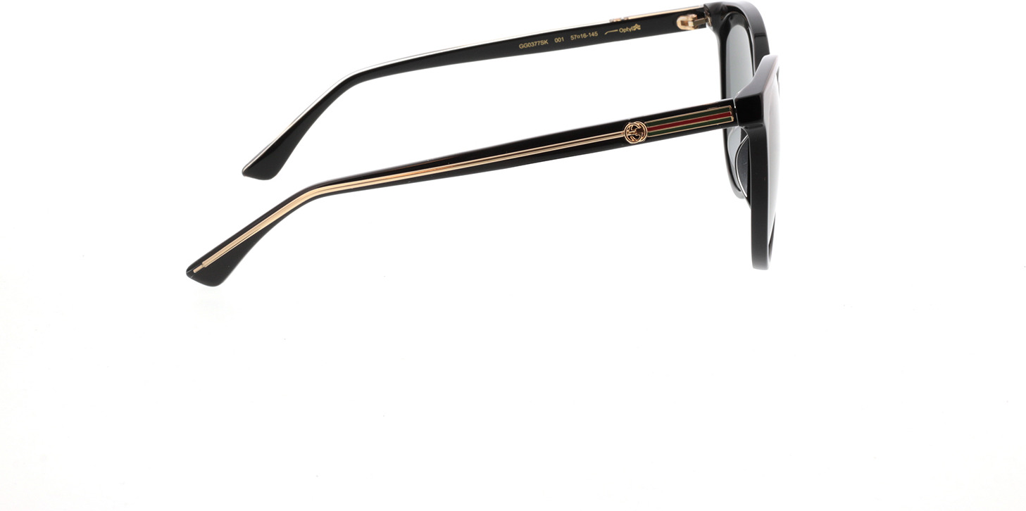 Picture of glasses model Gucci GG0377SK-001 57-16  in angle 90
