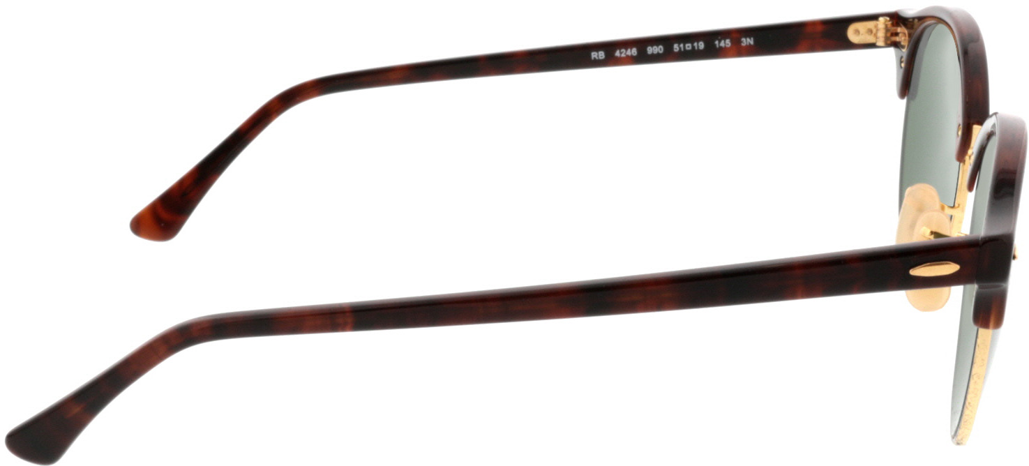 Picture of glasses model Ray-Ban Clubround RB4246 990 51-19 in angle 90
