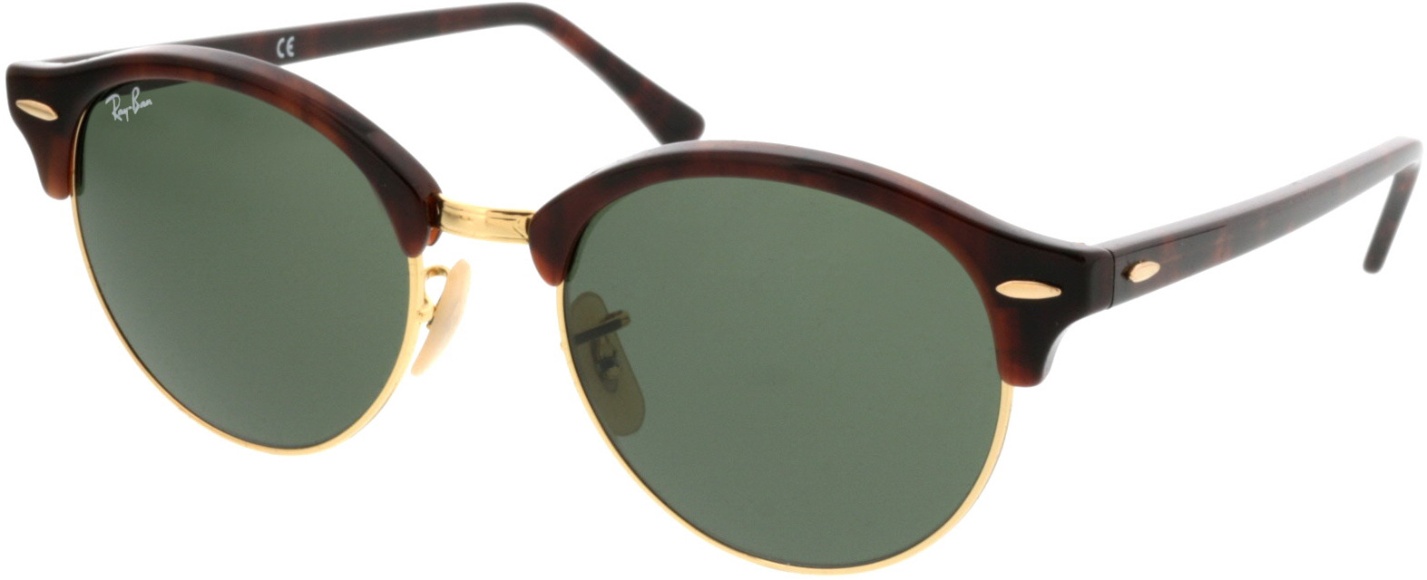 Picture of glasses model Ray-Ban Clubround RB4246 990 51 19