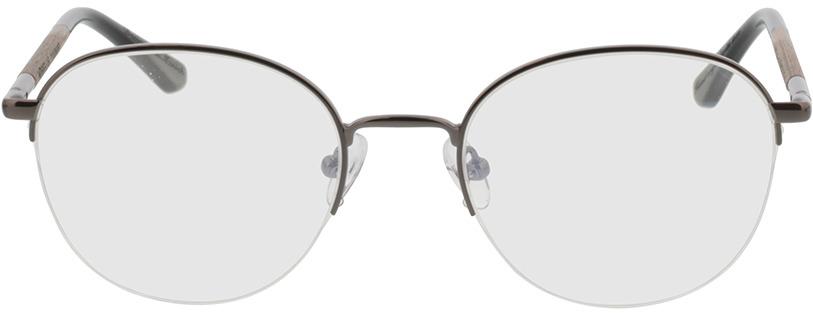 Picture of glasses model Wood Fellas Optical Cloudburst walnut/gun shiny 52-20 in angle 0