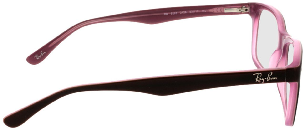 Picture of glasses model Ray-Ban RX5228 2126 53-17 in angle 90