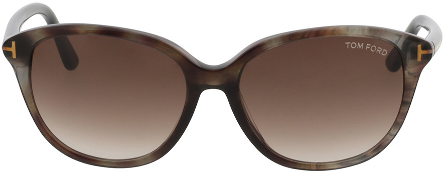 Picture of glasses model Tom Ford FT0329 50P 57-16 in angle 0