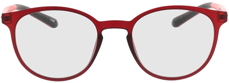 Picture of glasses model Lato mat rood in angle 0