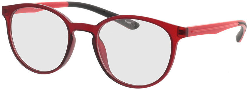 Picture of glasses model Lato mat rood in angle 330