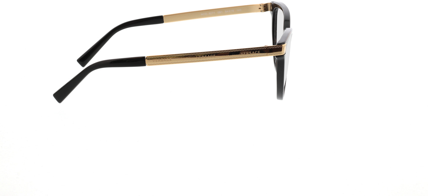 Picture of glasses model Versace VE3271 GB1 54-16 in angle 90