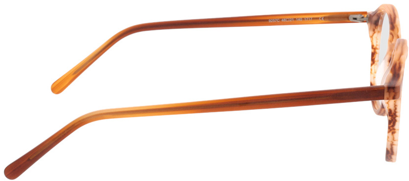 Picture of glasses model Ascra-matt orange horn in angle 90