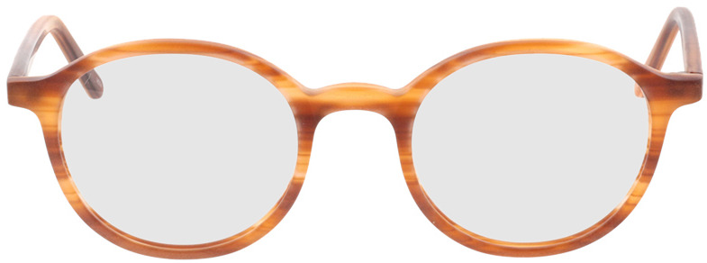 Picture of glasses model Ascra-matt orange horn in angle 0