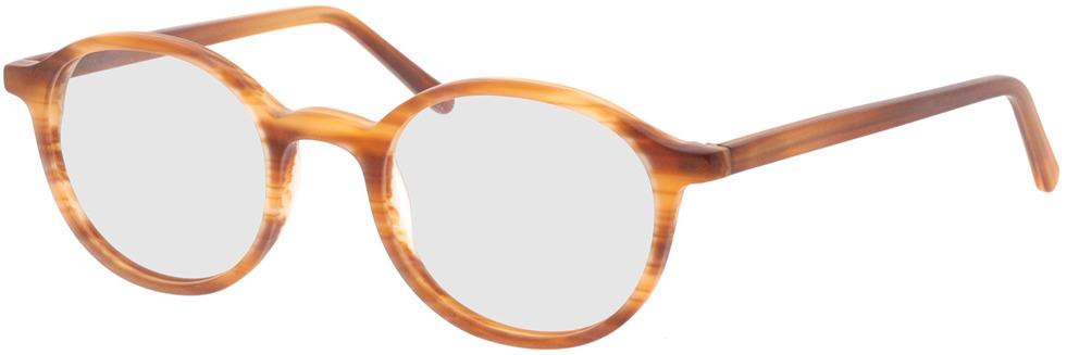 Picture of glasses model Ascra-matt orange horn in angle 330