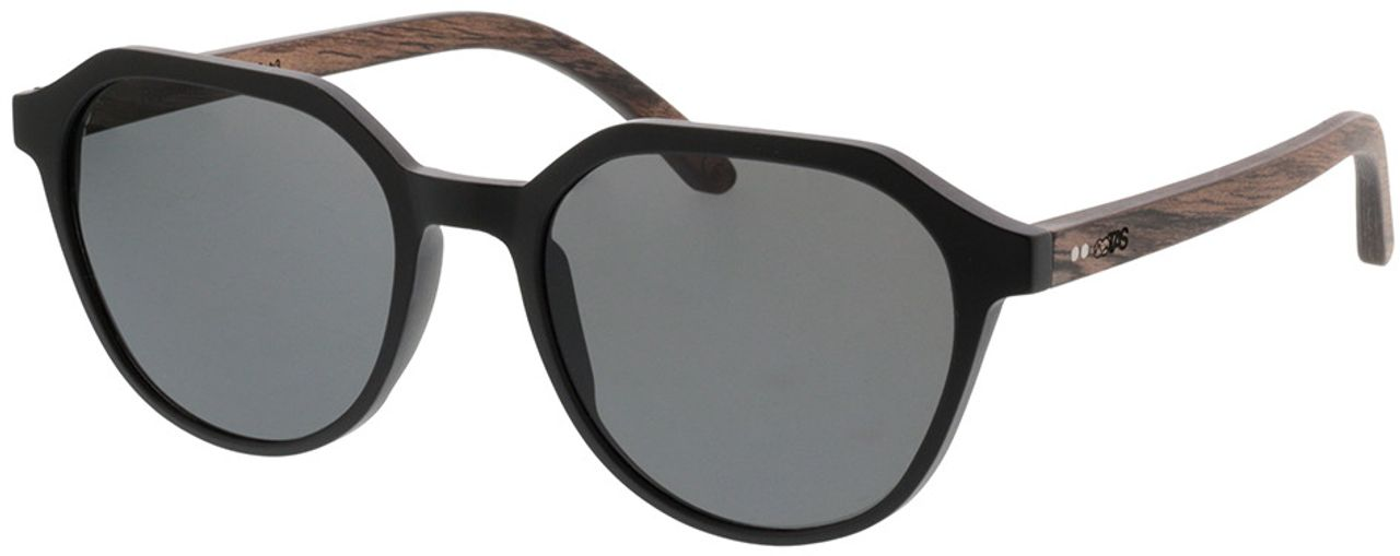 Picture of glasses model TAKE A SHOT Ferguson: Walnussholz 52-19 in angle 330