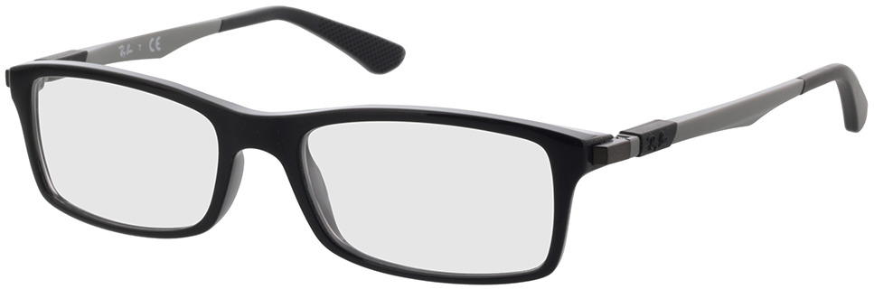 Picture of glasses model Ray-Ban RX7017 2000 52-17 in angle 330
