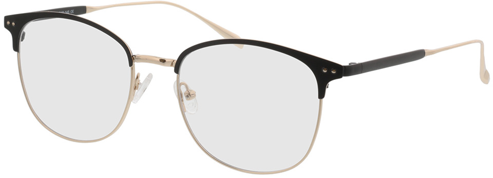 Picture of glasses model Hampton-noir/or in angle 330
