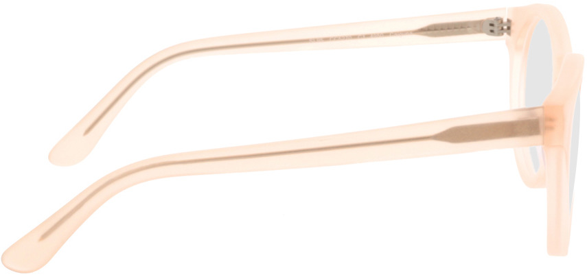 Picture of glasses model Caiguna-matt-apricot in angle 90